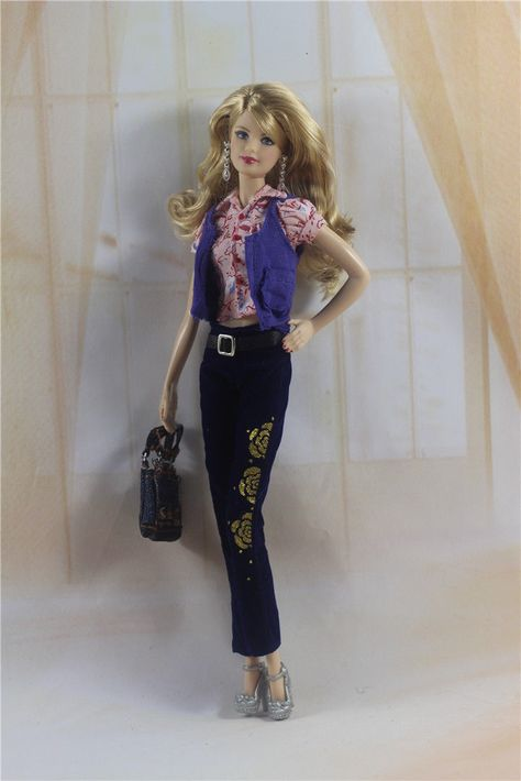 5in1 Set Jacket+dress+leggings+boots+Bag FOR 11.5in.Doll Clothes Girl Gift A1