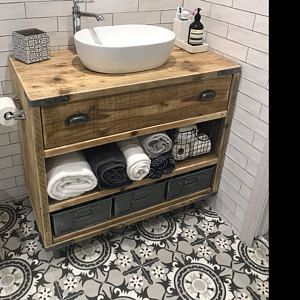 Oxford Reclaimed Wood Vanity Bathroom Wood Bathroom Vanity Cabinet Bathroom Vanity Rustic Rustic Bathroom Vanity Avec Images Meuble Lavabo En Bois Vanites De Salle De Bain Rustique Relooking Salle De Bain