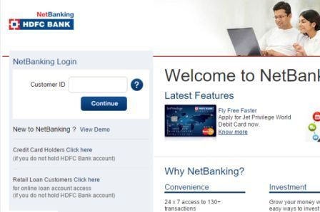 Hdfc Netbanking Login Netbanking Hdfcbank Com Online Login