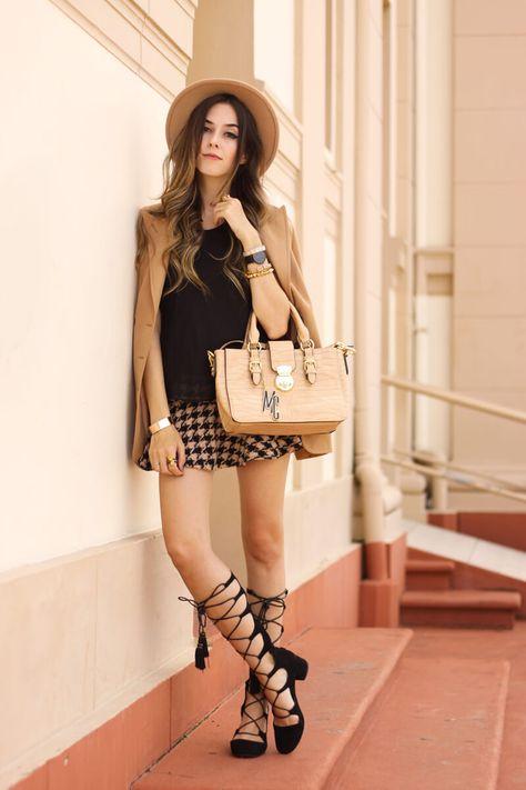 FashionCoolture - 22.03.2016 look du jour camel nude blazer lace up shoes black autumn (8)