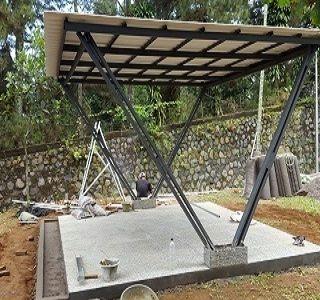 baja ringan murah depok harga kanopi minimalis dan di sawangan pusat