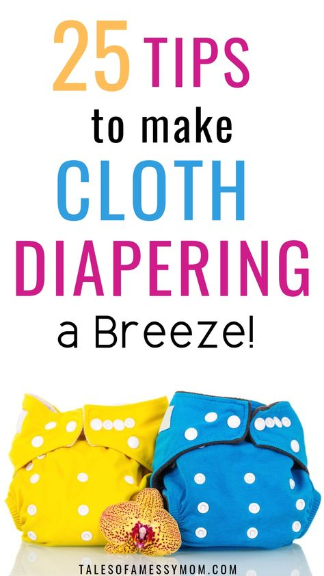 Cloth Diaper Tips to Make Cloth Diapering a Breeze. 25 best cloth diaper tips for cloth diapering beginners. Cloth diapers Tips and hacks for washing, laundry, storage, DIY, how to use cloth diap Cloth Diaper Storage, Wash Cloth Diapers, Reusable Diapers, Diy Diapers, Cloth Nappies, Baby Care Tips, Natural Parenting, Baby Time, Baby Feeding