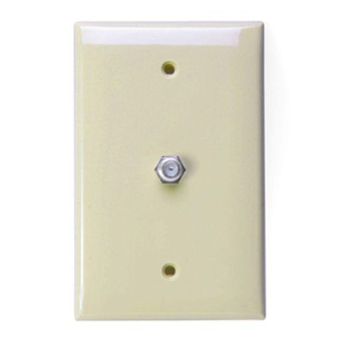Leviton 1 Gang Midway Catv Wall Plate White R62 40539 0mw Plates On Wall Wall Plates