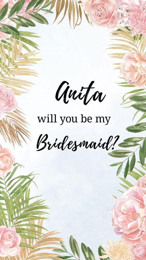 Animated bridesmaid proposal