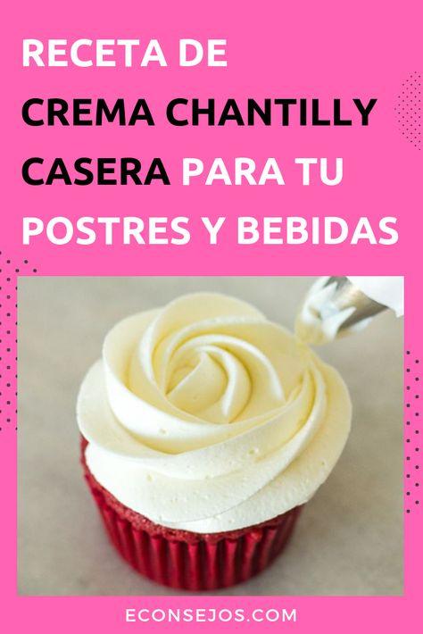 8 Ideas De Como Hacer Crema Chantylli Chantilli Receta Crema Batida Casera Crema Chantilly Casera
