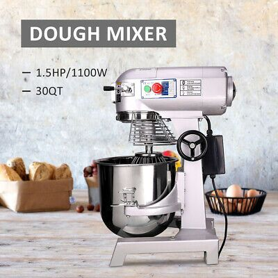 Commercial Dough Food Mixer 30 Quart 3 Speed 1100W Pizza Bakery ...