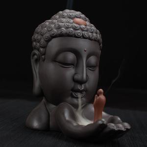 Buddha Hand Buddhist Burner Backflow Incense Cones Burner Tower Incense Holder