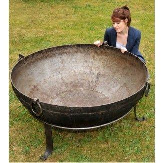 Kadai Bowls Handmade Wrought Iron Iron Fire Pit Fire Pit Cast Iron Fire Pit
