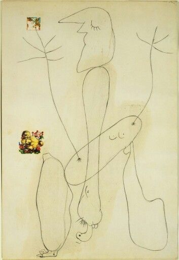 Joan Miro Drawing Collage 1936 Joan Miro Miro Artist Drawings