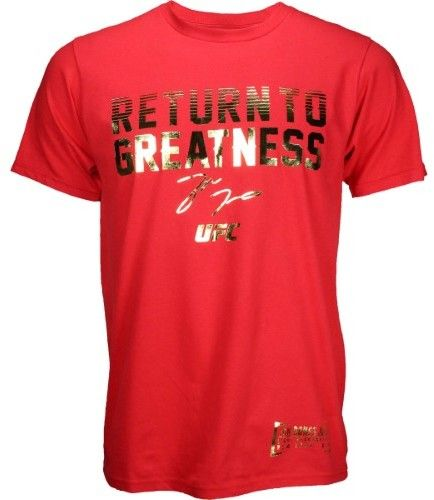 Reebok Mens UFC Fan Jon Jones Tee in Red Size XL - MMA Apparel