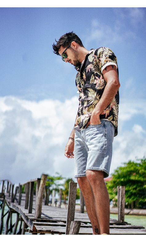 YIWNG Adult Mens Beach Trousers Tropical Floral Bouquets Printing Surf Shorts