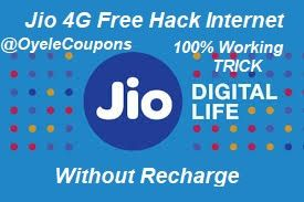 Jio 4G Free Recharge Hack Unlimited Internet Tricks 19-20 March 2018