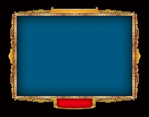 أسود أزرق إطارات بسيطة على الخلفية Frame Background Frame Metal Frame