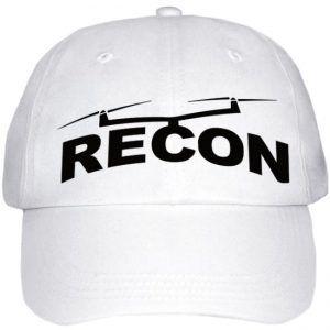 Recon Branded Hat White Baseball Cap Recon Drone Repair White Baseball Cap Baseball Cap Cap