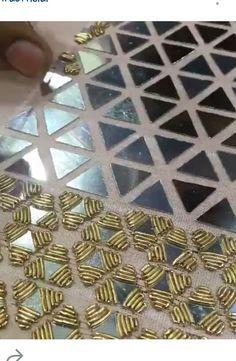 @ Af's Collection tilla work on mirrors Triángulos