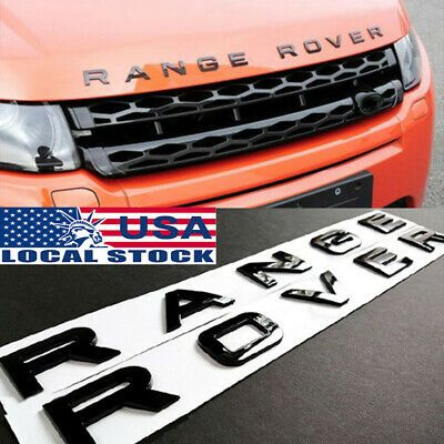 RANGE ROVER Matt BLACK LETTERS HOOD TRUNK TAILGATE EMBLEM BADGE NAMEPLATE NEW