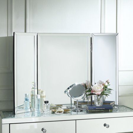 Home Tabletop Vanity Mirror Free Standing Wall Inspired Homes