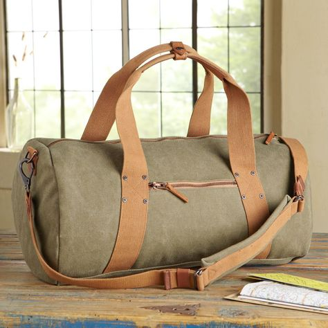 Waxed Canvas Travel Bag $128 | National Geographic Store
