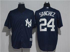 new arrivals c9093 b70db New York Yankees #24 Gary Sanchez Alternate Navy Cool Base ...