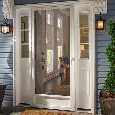 Kiby Still Waters Aluminum Screen Door Wayfair In 2020 Aluminum Screen Doors Screen Door Wood Screen Door