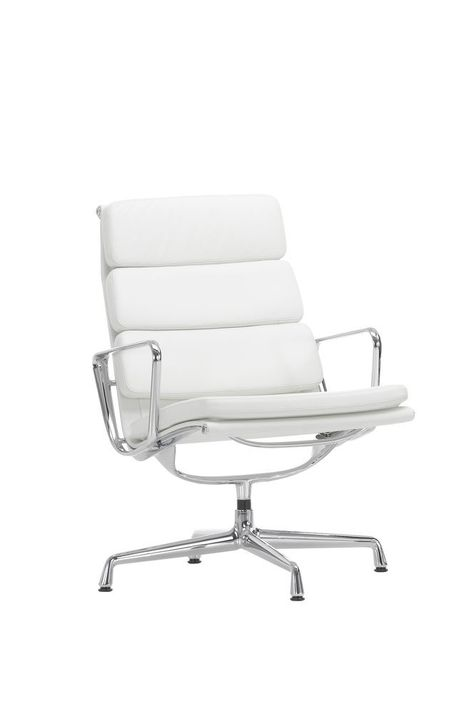 Ea 216 Aluminium Soft Pad Group Swivel With Armrests 04 Glides For Carpet Leather Premium 72 Snow Chromed Aluminium In 2019 Vitra Design Industrial Dining Chairs Chair