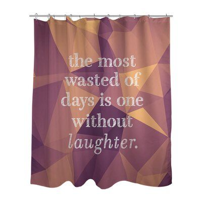 East Urban Home Faux Gemstone Laughter Inspirational Quote Shower
