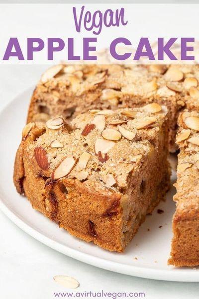 Vegan Apple Cake Recipe In 2020 Vegan Apple Cake Cake Recipes Apple Cake