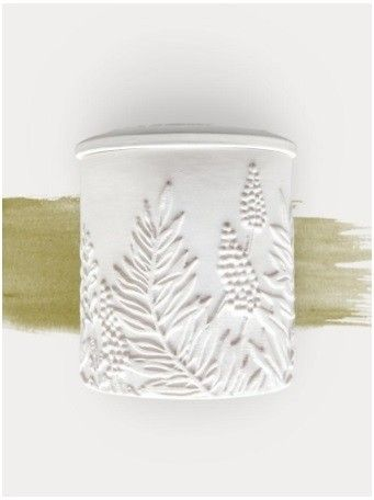 The Cottage Greenhouse White Pine Balsam Ceramic Candle Ceramic Candle Candle Modern White Pine