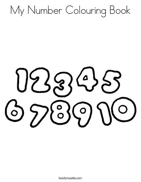 My Number Colouring Book Coloring Page Twisty Noodle Coloring Books Coloring Pages Books