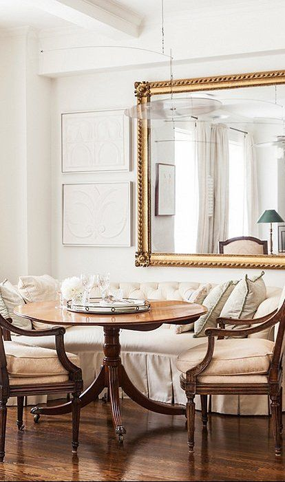 Mirrors Act As Magicians In Your Home They Make Spaces Appear Larger Multiply Light And Duplicate Views Dependi Mirror Dining Room Dining Room Design Decor