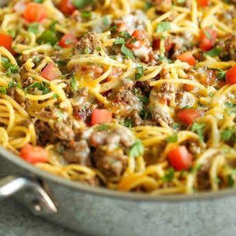 Haitian Spaghetti Recipe Yummly Recipe In 2020 Taco Spaghetti Spaghetti Recipes Recipes