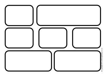 Blank Printable Word Wall Brick Templates Word Wall Template Black And White Words Word Wall