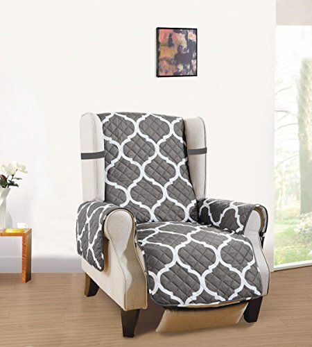 Reversible Couch Cover Separates Large Sofa Standard Sofa Loveseat Recliner And Arm Chair Protectors In Grey White Quatrefoil Morrocan Lattice Home Decor F Love Seat Large Sofa Recliner Cover