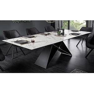 Diy Desk Discover Table A Diner Moderne Verre Et Ceramique Extensible Seville Succombez Au Char Black Living Room Dining Table Marble Living Room Design Modern