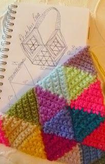 Crochet Triangle, Rhombus Bag - Tutorial  ❥ 4U // hf
