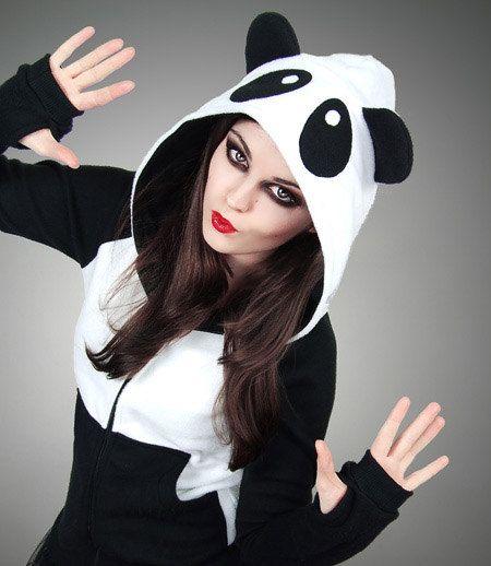 Buy Hoodie Panda Fleece Ears Animal Kawaii Lolita Sweet at Wish - Shopping Made Fun