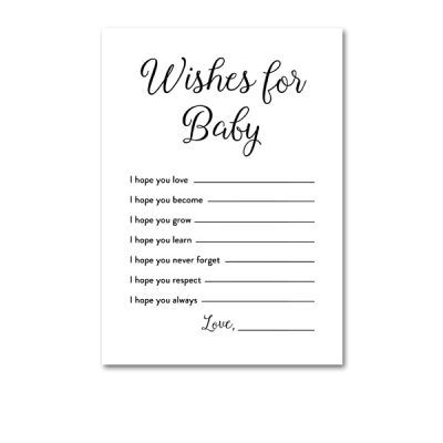 Baby Shower Printable Elegant Black And White Wishes Wishes For Baby Baby Shower Printables Baby Shower