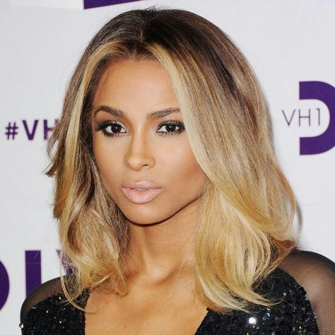 Ciara ombre lob, her hair is killing it these says