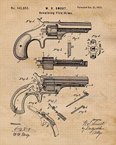 8x10 Original Remington Shotguns Patent Art Prints Set of Four Photos