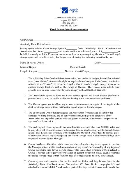 Storage Space Lease Agreement by kte19424 - storage lease - commercial truck lease agreement