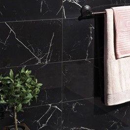 Marble Tech Port Laurent 12x24 Polished Nero Marquina Look Porcelain Tile Polished Porcelain Tiles Porcelain Tile Black Marble Tile