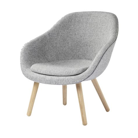 About A Lounge Chair AAL82 Sessel mit Kissen geseift - Hay - amalia lounge sessel ergonomische form attraktiv design