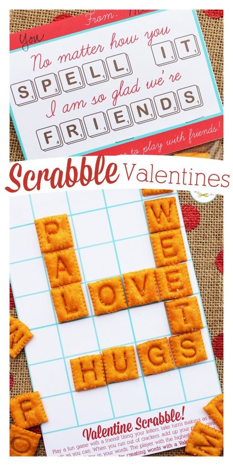 Edible Scrabble Valentines   A Pinterest Celebration!