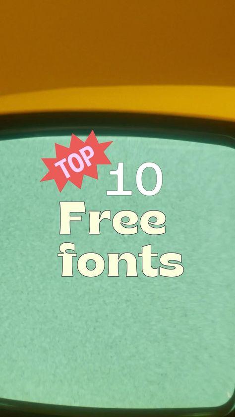 Te compartimos nuestro TOP 10 de tipografías gratuitas para tus diseños 🙌🏽🤩