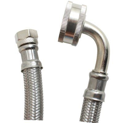 Certified Appliances 4 Braided Stainless Steel Dishwasher Hose With Whirlpool Elbow Stainless Steel Dishwasher Appliance Accessories Dishwasher Hose