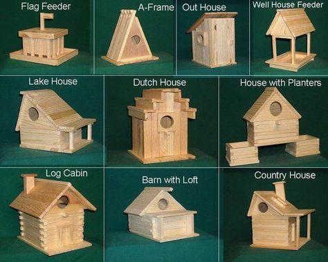 20 kits Wood Bird house kit collection #birdfeederplans #diybirdfeederplans #homemadebirdfeeder #wildbirdscoop