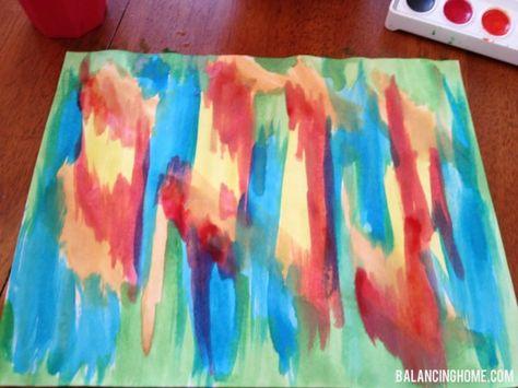 DIY Watercolor art - Balancing Home