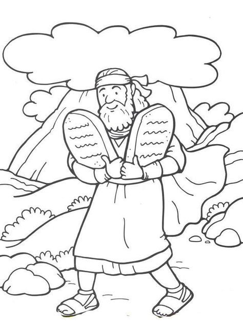 48 Moses And The 10 Commandments Sunday School Coloring Pages Bible Crafts Bible Coloring Pages