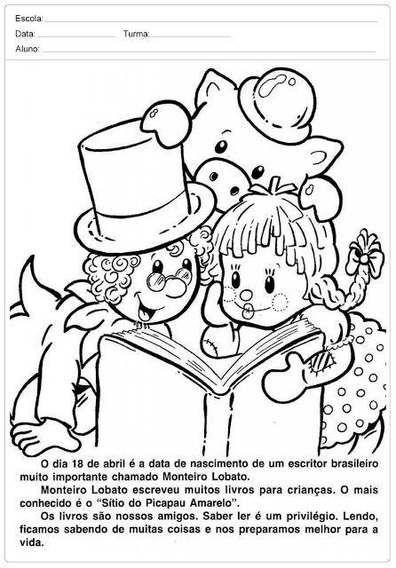 Atividades Dia Do Livro Infantil Monteiro Lobato Com Imagens