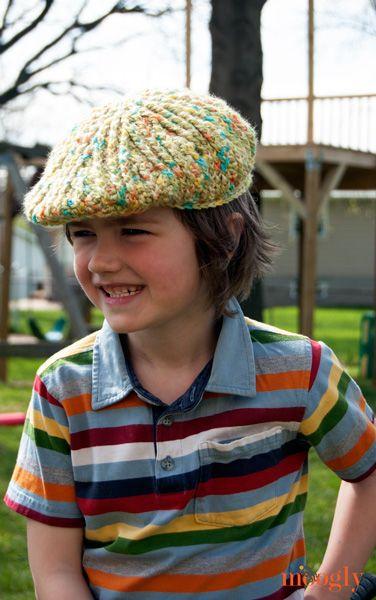Moogly - Big Boys Cabled Golf Cap FREE pattern